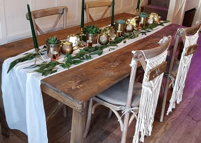 rustic table hire