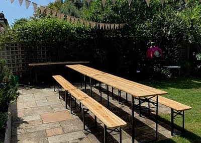 beer bench hire London