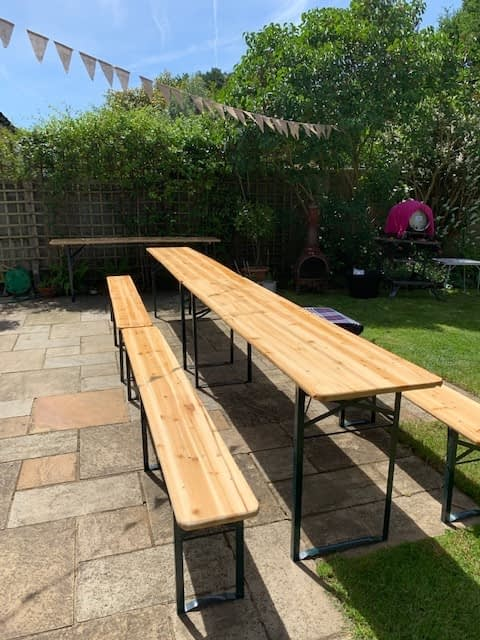 beer bench hire Surrey