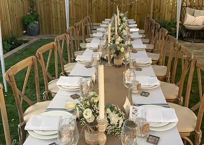 cross back chair hire West Sussex