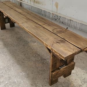 rustic bench hire