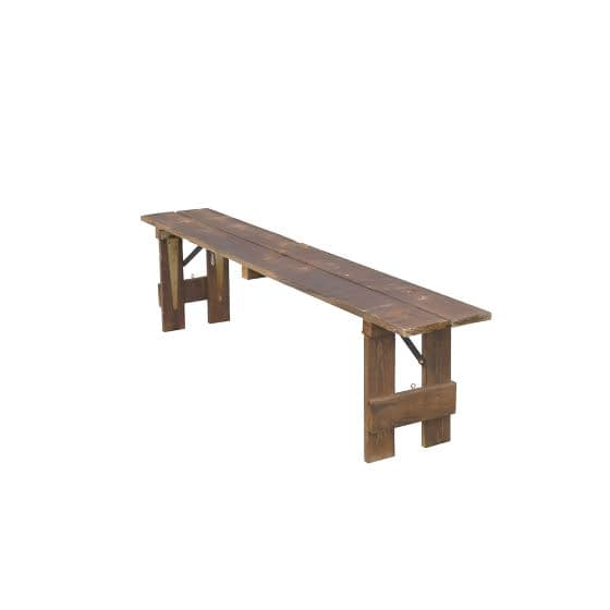 rustic bench hire sussex