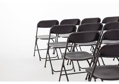 black folding chair hire sussex