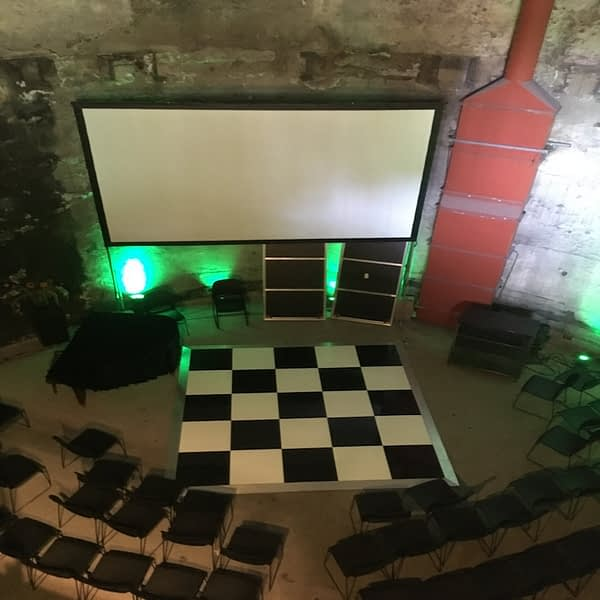 chequered dance floor hire Hampshire