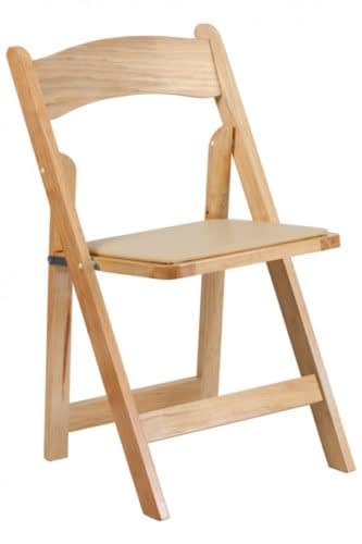 rent folding wooden wedding chair hire London