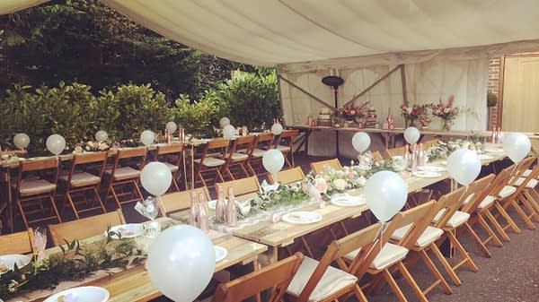 rent folding wooden wedding chair hire Hampshire