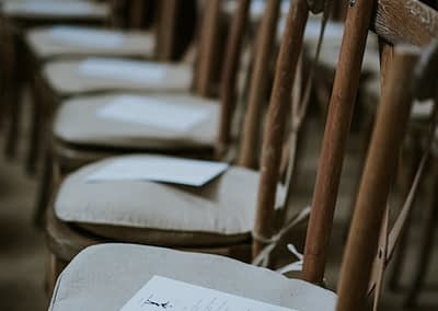rustic wedding chair hire