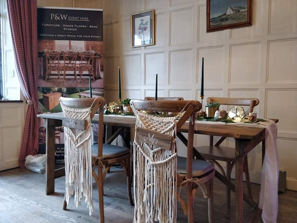 rustic table hire Kent