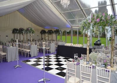black and white dance floor hire Kent
