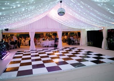 black and white dance floor hire Surrey