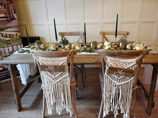 rustic table hire London
