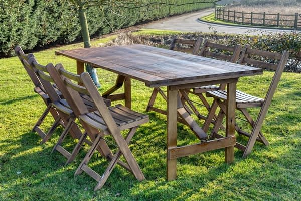 rustic trestle table hire