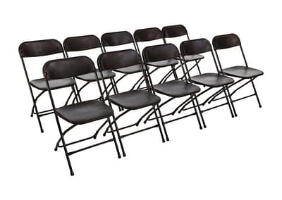black folding chair hire Hampshire