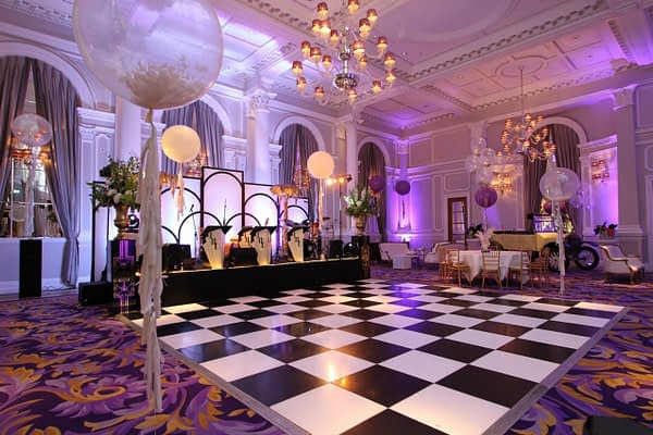 black and white dance floor hire Sussex